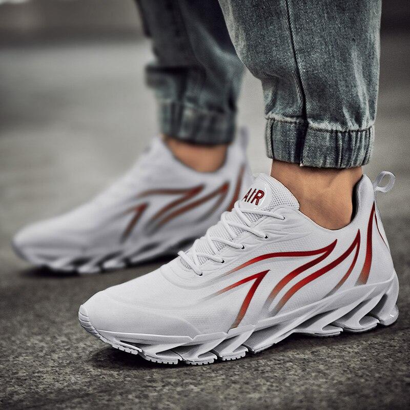 Zapatillas deportivas transpirables para Hombre, calzado deportivo acolchado con cuchilla, para caminar...