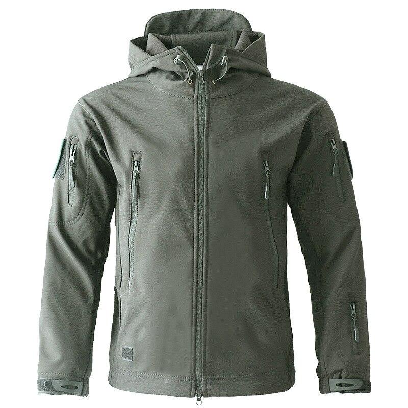 Тактическая куртка Shark Soft Shell в стиле милитари, Мужская водонепроницаемая ветровка, армейская одежда, мужские камуфляжные куртки большого р...