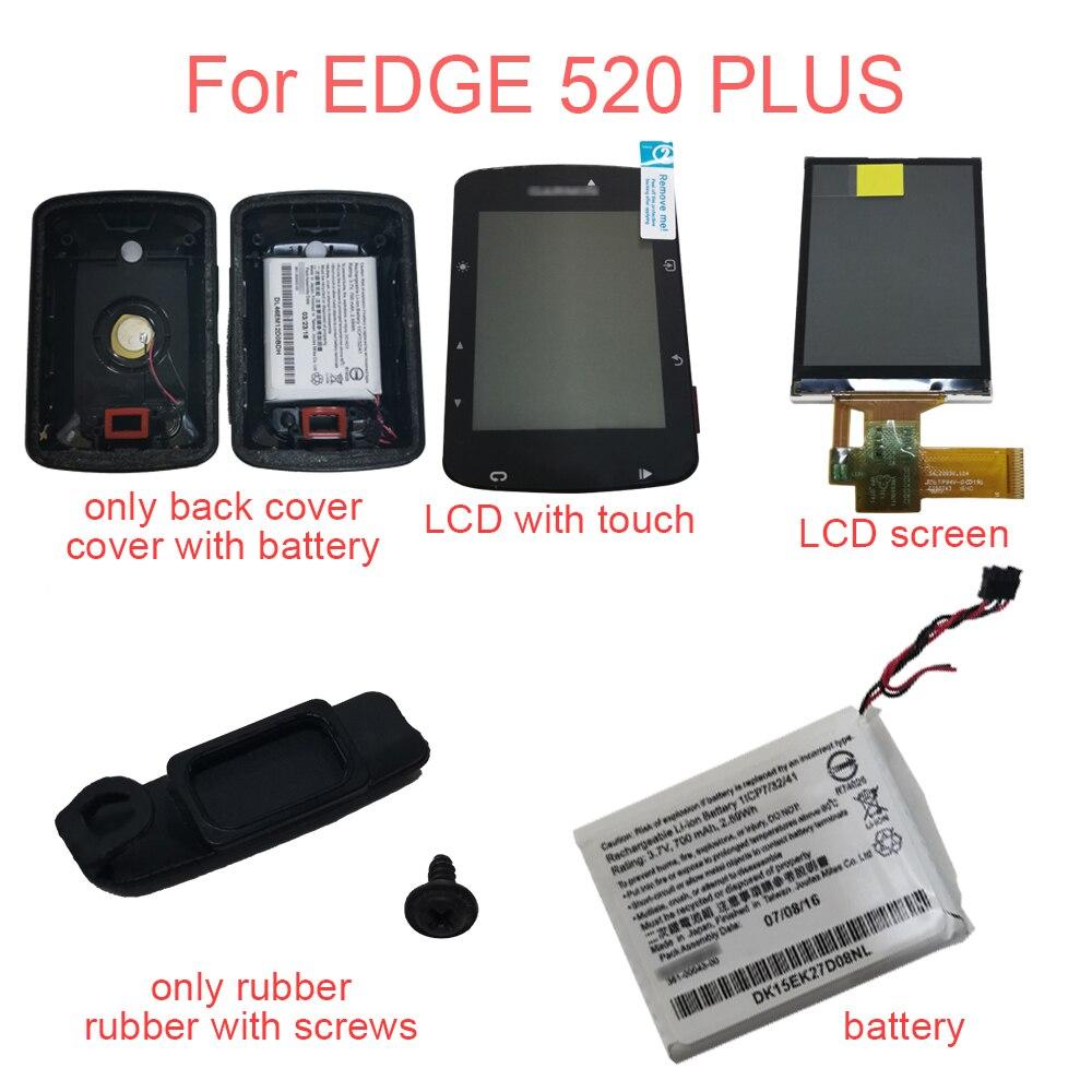 غطاء خلفي/شاشة LCD/شاشة LCD تعمل باللمس/بطارية 361-00043-00/منفذ شحن Usb غطاء مطاطي لأجزاء GARMIN Edge 520 Plus