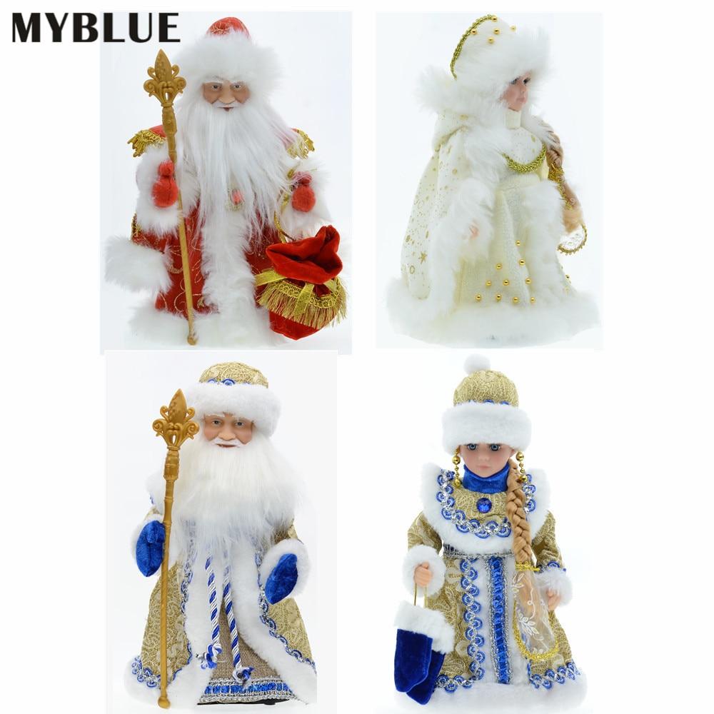 Adornos navideños eléctricos de 30cm para Papá Noel, Blancanieves, muñecos de peluche...