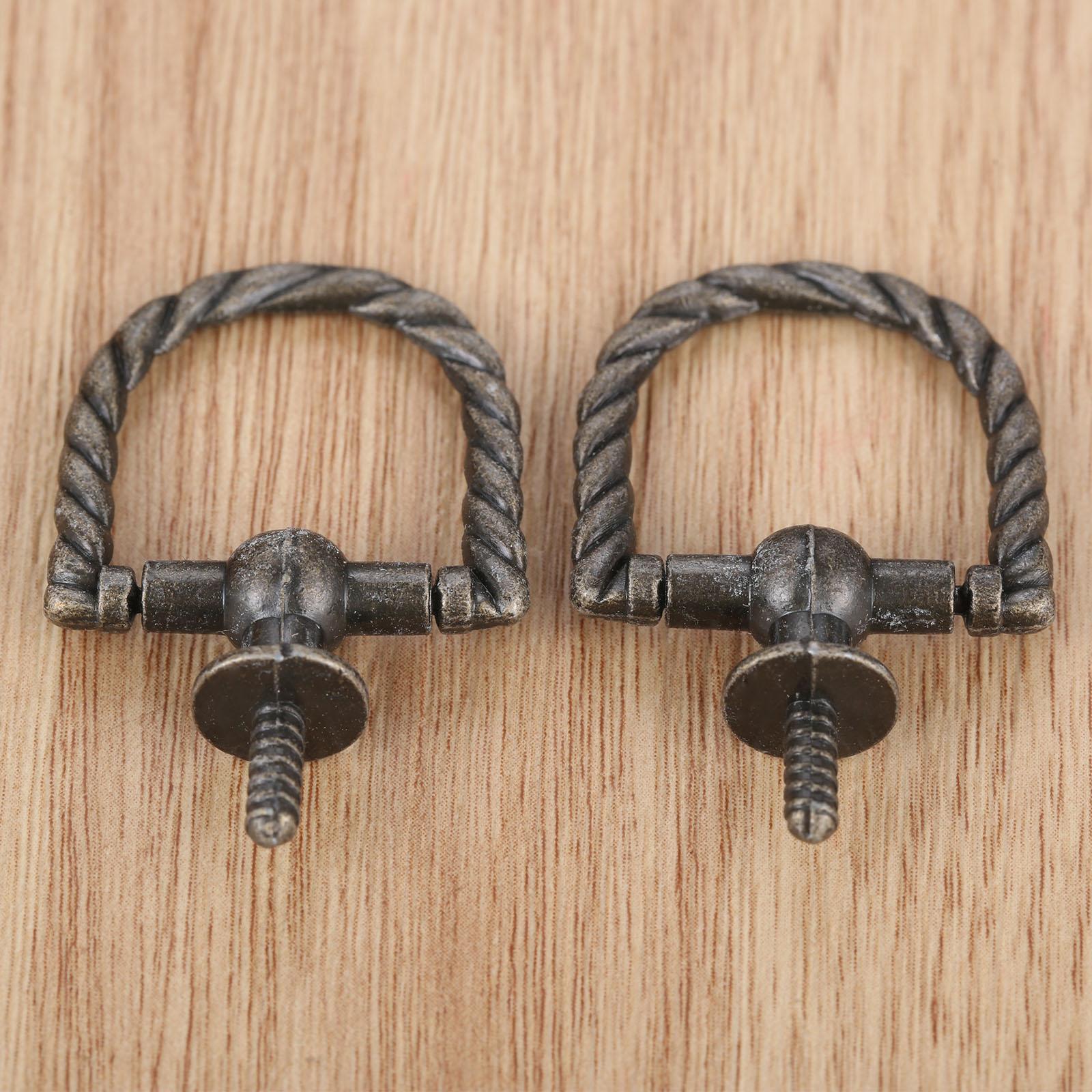 Perillas de gabinete de manija antigua joyero cajón armario aleación tiradores tornillos autorroscantes accesorios de muebles Vintage