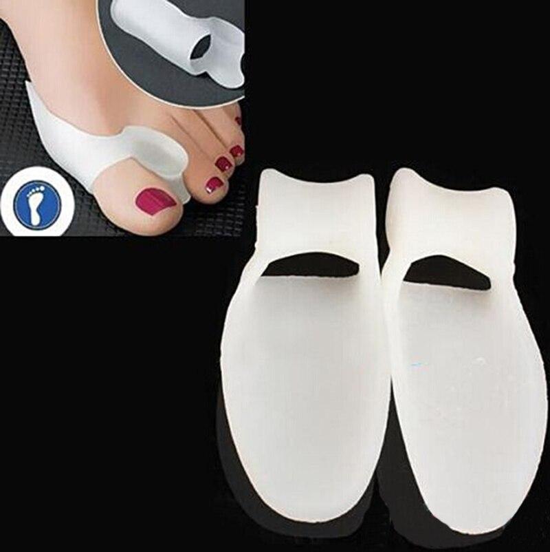 1 par grande dedo do pé separadores gel silicone bunion corrector alisador espalhador ferramenta de cuidados com os pés hallux valgus pro massageador