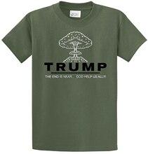 Trump Bomb Anti-Trump T-Shirt Nuclear Mushroom Cloud Political Joke Funny Dump custom printed tshirt hip hop funny tee