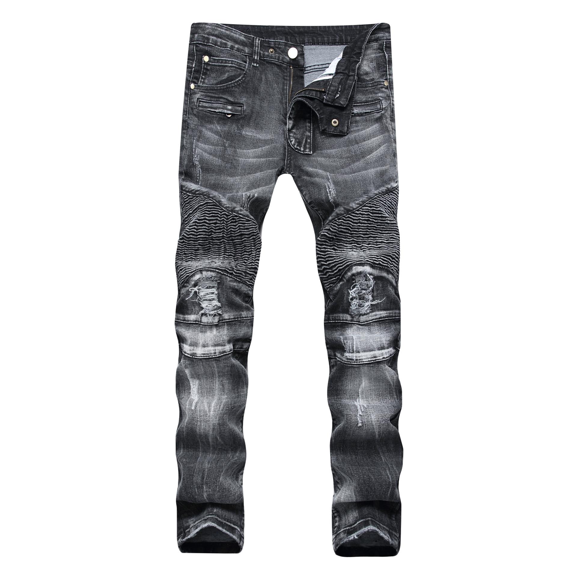 بنطلون جينز من الجينز ذو فتحات ممزقة للرجال مقاس 28-38 40 42 موضة ربيع 2021 ملابس شتوية شتوية هيب هوب بانك