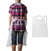 100pcs disposable apron clear transparent waterproof anti dust kitchen cleaning sleeveless apron cooking household 70x120cm r8y6