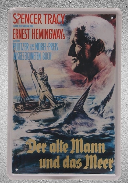 Cartel de metal vintage para decoración de pared, cartel de película de...