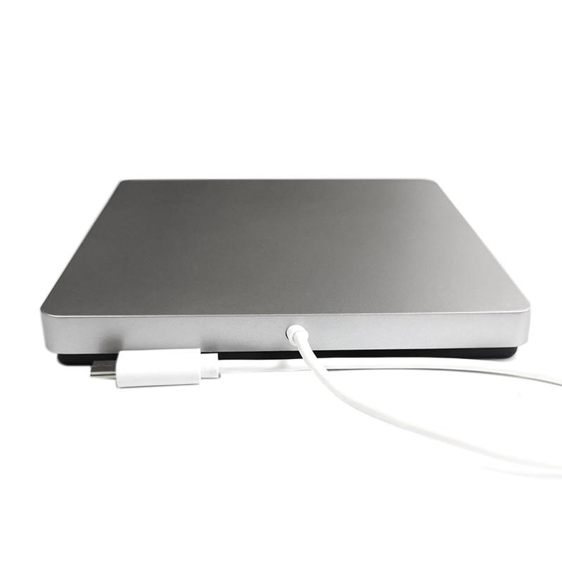 USB-C Superdrive de CD y DVD coche regrabadora externa tipo-c de DVD/CD DVD portátil coche apoyo Windows8/7/Vista/Mac OSX