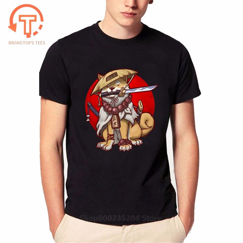 Japon Anime Akita samouraï Ronin T-Shirt génial Kawaii Shiba chien Inu T-Shirt amoureux des animaux vêtements hommes Dabbing chien T-Shirt Hombre