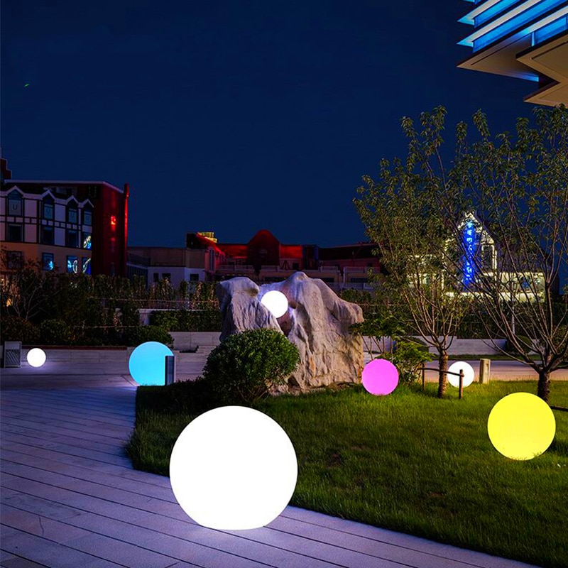 25cm Warm White Waterproof Cordless Solar LED Outdoor Garden Decorative Balls Lights with Rechargeable Battery  for Lawn Patio enlarge
