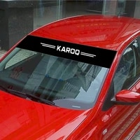 for skoda karoq car stickers front rear windshield prevent sunlight reflection decoration decals car accessories