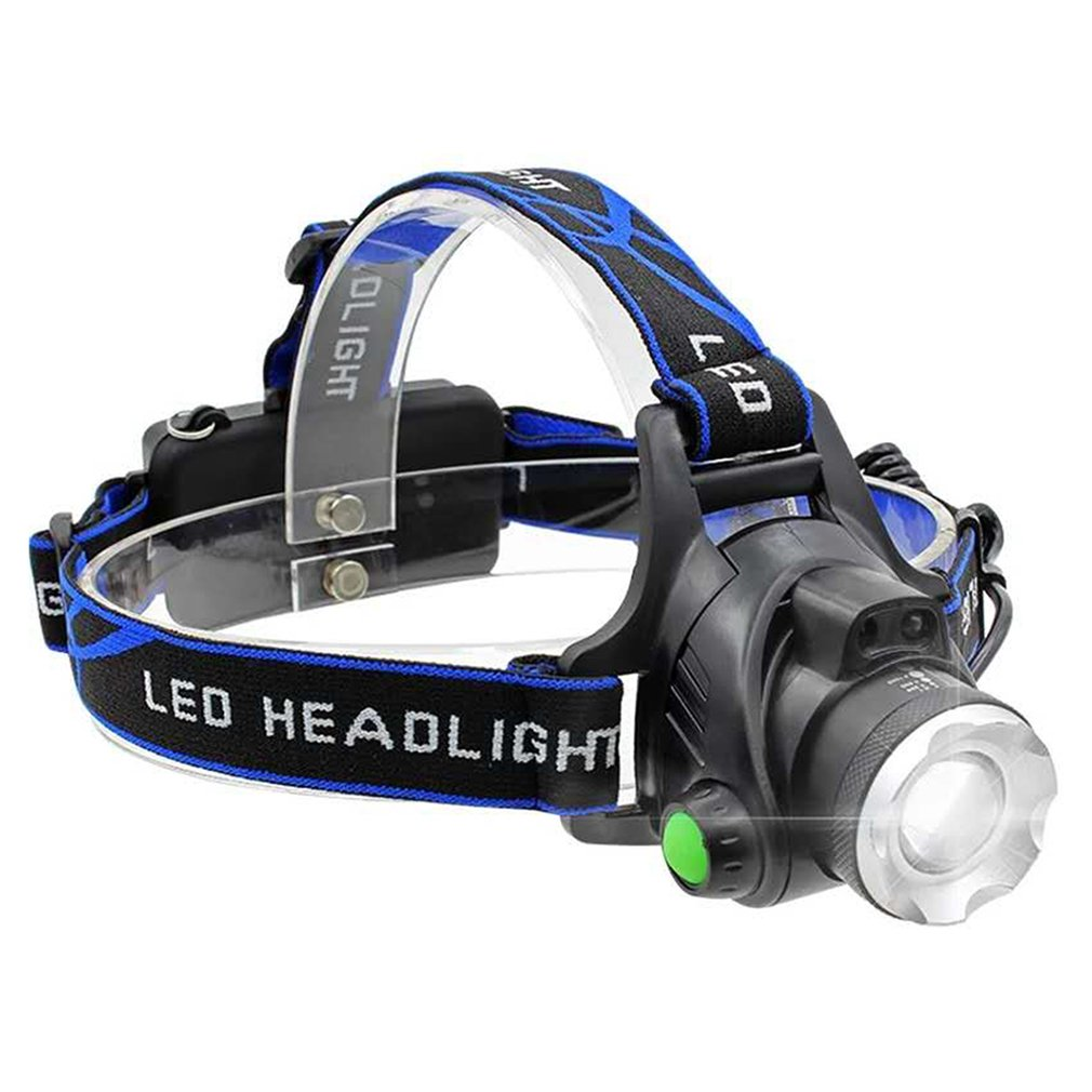 Faros delanteros Led de 1000 lúmenes L T6, linterna de cabeza con zoom, linterna de cabeza con batería de 18650 para pescar y cazar
