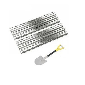 3Pcs/Set Simulated Decoration Escape Board Sand Ladder Shovel for TRX4 SCX10 MST Jimny VS4 RC Crawler Car Accessories