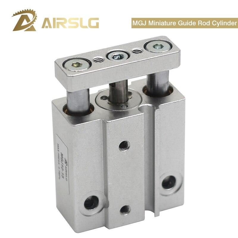 SMC tipo miniatura cilindro con barra guía construido en imán MGJ6-5 MGJ6-10 6-15 MGJ10-5 MGJ10-10 MGJ10-15 10-20 cilindro neumático