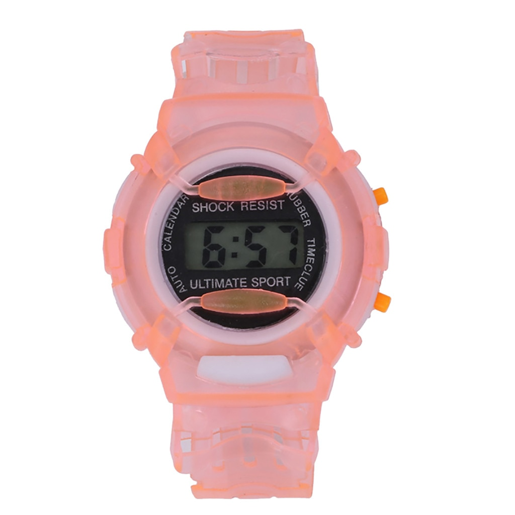 Lovely Watch For Kids Child Waterproof Digital Watch Candy Color Transparent Led Watch For Boys Girl
