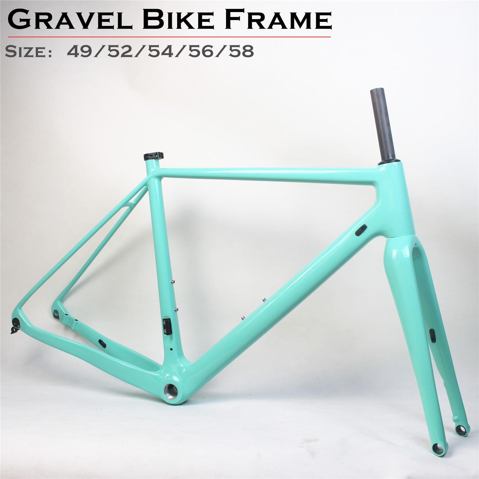 Carbono Cyclocross bicicleta marco CX plana montaje disco bicicleta estructura ciclocrós Estructura de discos con a través de Axle142 * 12 grava bicicleta