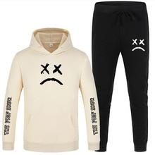 Men s Sets Spring Autumn Hoodies Pants Lil Peep Cry Baby Print Sportswear Wholesale Casual Hoodie set Sweatshirts Tracksuit