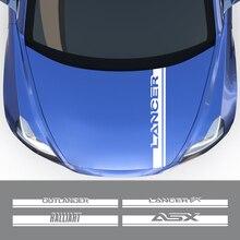 Autocollant de capot de voiture de décalcomanie de capot de moteur automatique pour Mitsubishi Lancer 10 3 9 EX Outlander 3 ASX Ralliart accessoires de compétition