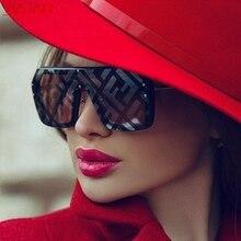 2021 Oversized Square FF Sunglasses Women's Men Luxury Brand Fashion Flat Top One Piece Sun Glasses