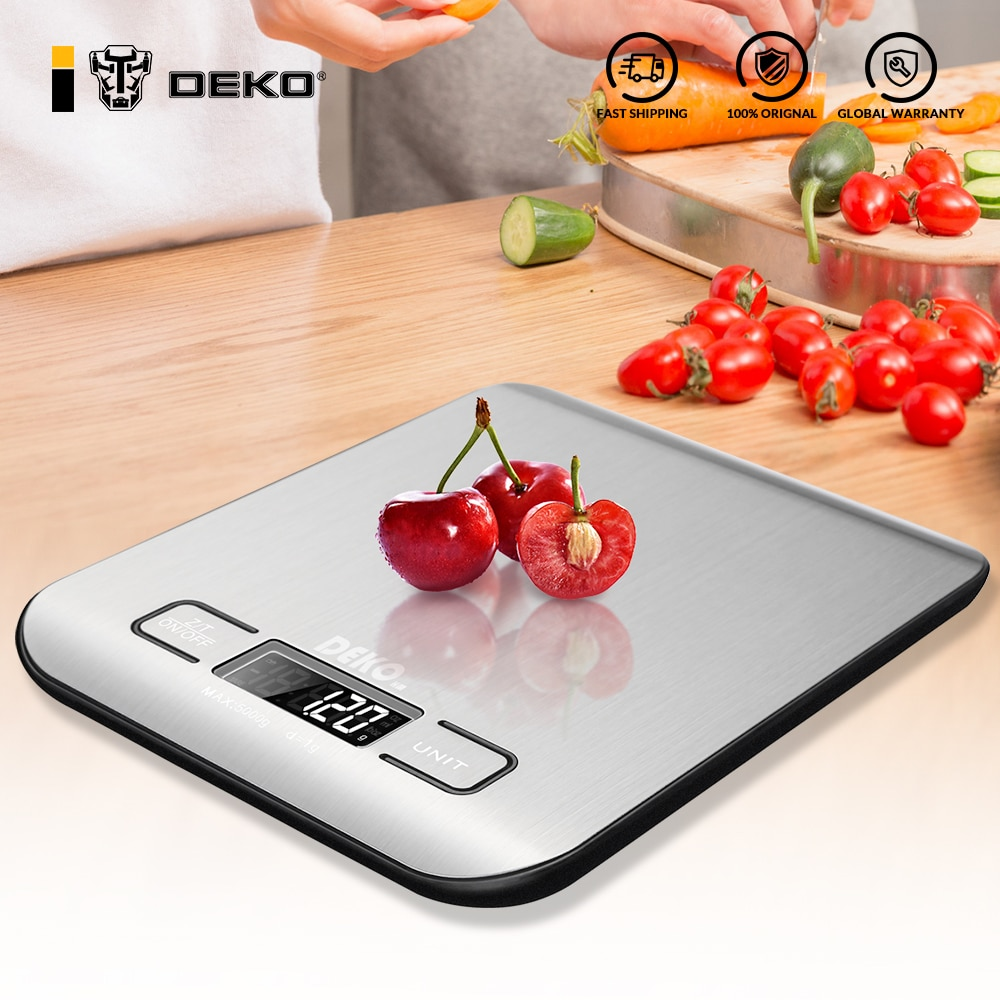DEKO Portable Electronic Digital Kitchen Scale Weigh Jewelry High Precision LED Display Household We
