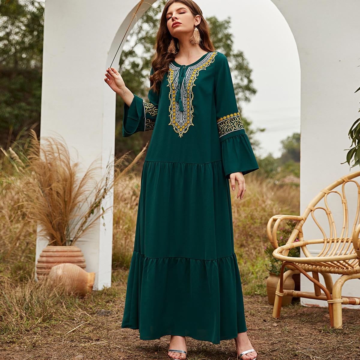 платье kidonly kidonly mp002xw0iu2q Женское длинное платье, женское платье, мусульманское платье Дубай, абайя, длинное платье, мусульманское платье, женское мусульманское плат...