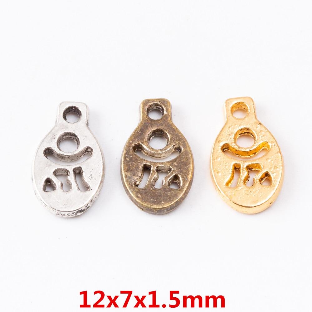 80pcs Charms Yoga symbol Pendant Bright  Zinc Alloy Fit Bracelet Necklace DIY Metal Jewelry Findings 6502