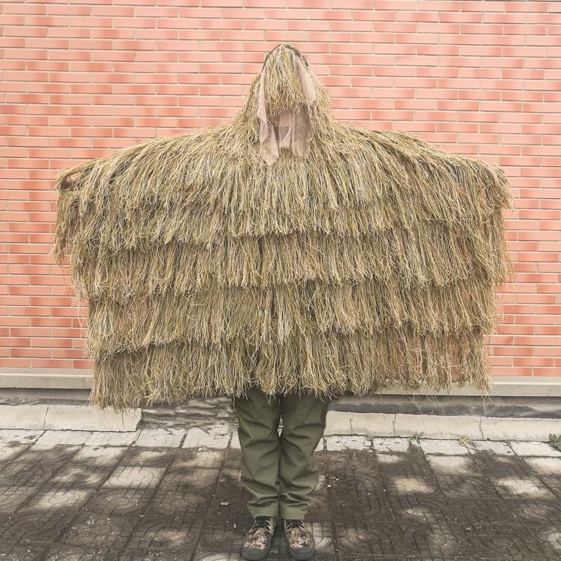 معطف صيد الغابة في الهواء الطلق ، ملابس العشب Withered ، بدلات Ghillie ، ملابس التمويه ، الصيد ، صيد الغابة