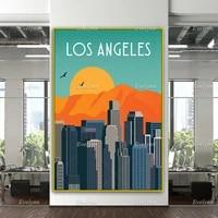 california retro poster los angeles travel print los angeles poster los angeles wall art travel posterhome decor canvas