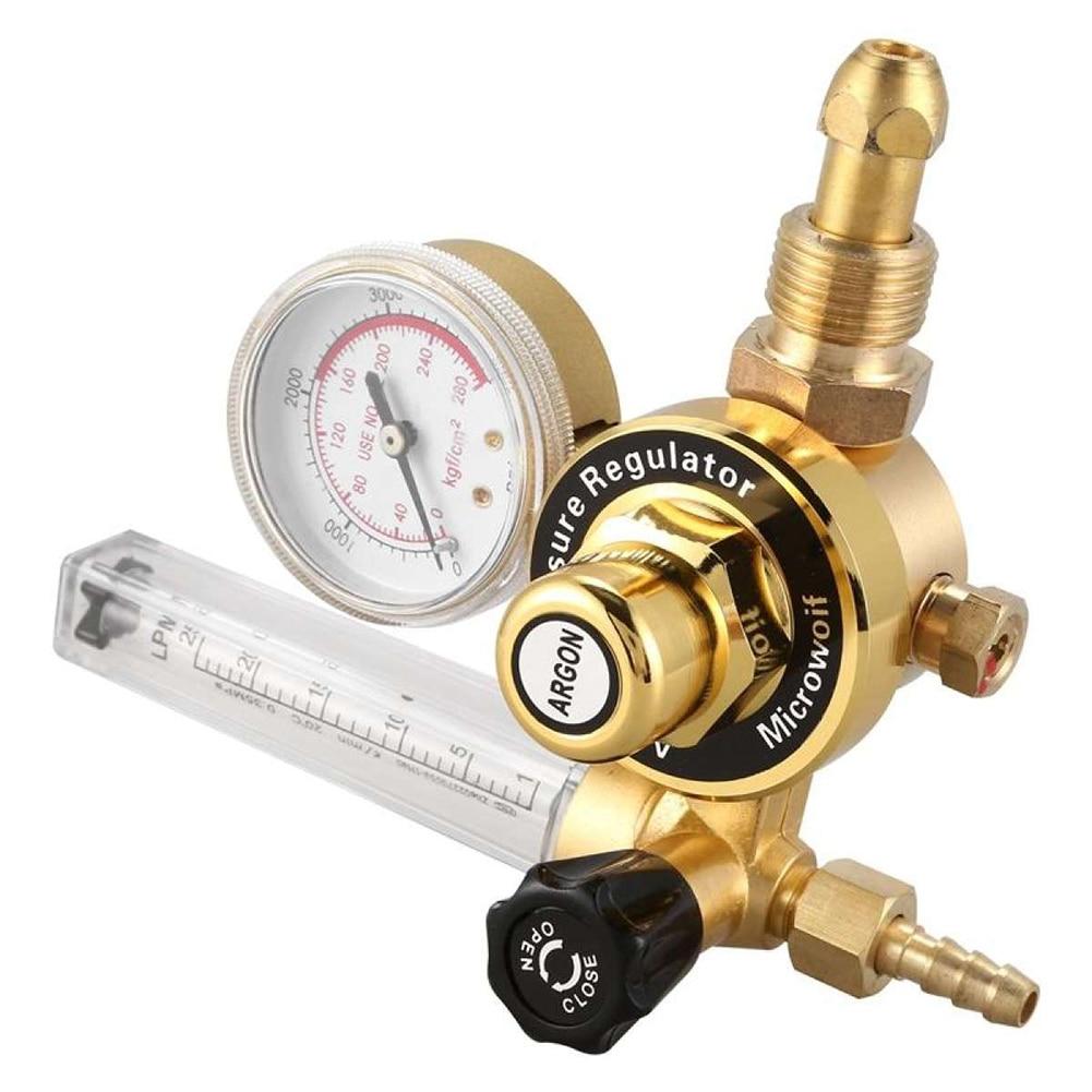 Válvulas de Control de caudalímetro reductoras de presión de argón de rosca externa regulador de tubo único QJS Shop