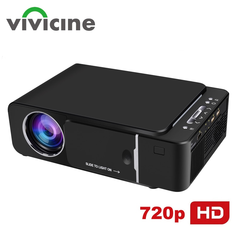 VIVICINE 1280x720p Portable HD Projector,Option Android 10.0 HDMI USB 1080p Home Theater Proyector W