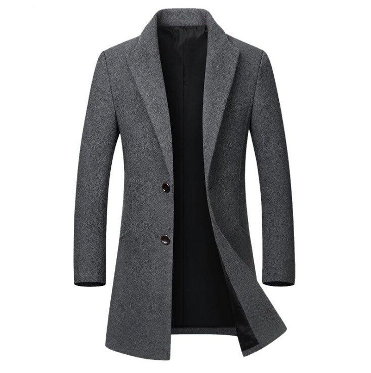 Chaqueta de lana para hombre, abrigo de lana de alta calidad, abrigo...