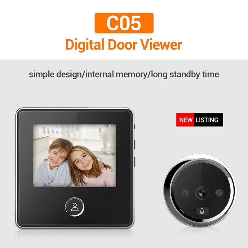 C05 3 بوصة LCD شاشة ملونة 120 درجة 1MP الإلكترونية جرس باب ثقب الباب كاميرا مع للرؤية الليلية القط العين كاميرا الجرس كاميرا