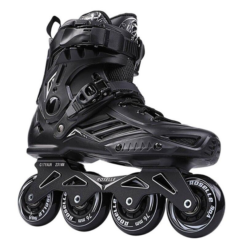 Роликовые коньки/модная обувь с прямым колесом профессиональные плоские роликовые коньки высокая эластичность амортизирующая