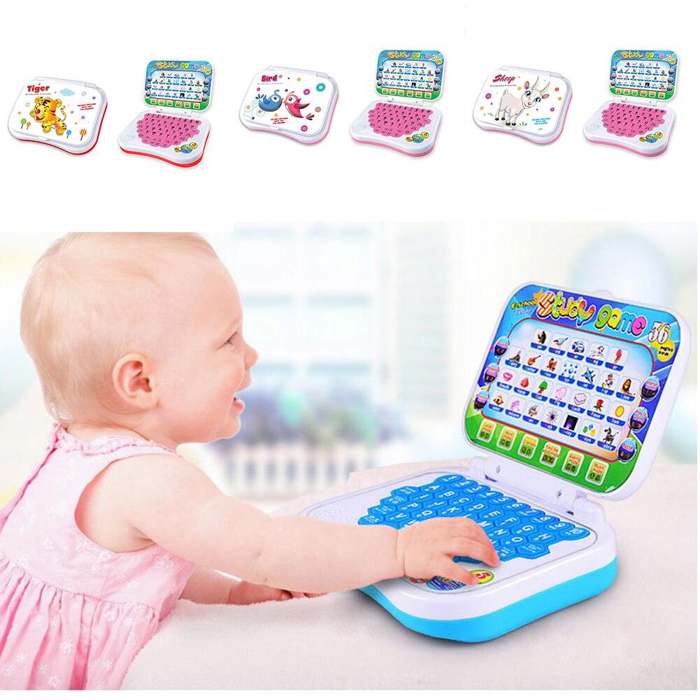 Nuevo Bebé niños educación preescolar aprendizaje chino/Inglés estudio juguete ordenador portátil juego desarrollar inteligencia