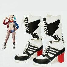 Halloween clown accessoires Batman joker suicide escouade harley quinn chaussures cosplay adultes femme bottes dames filles chaussures à talons hauts