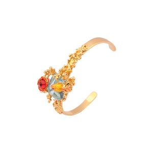 European and American Style Creative New Fashion Trend Handmade Enamel Goldfish Bracelet Personality Open Bracelet Female