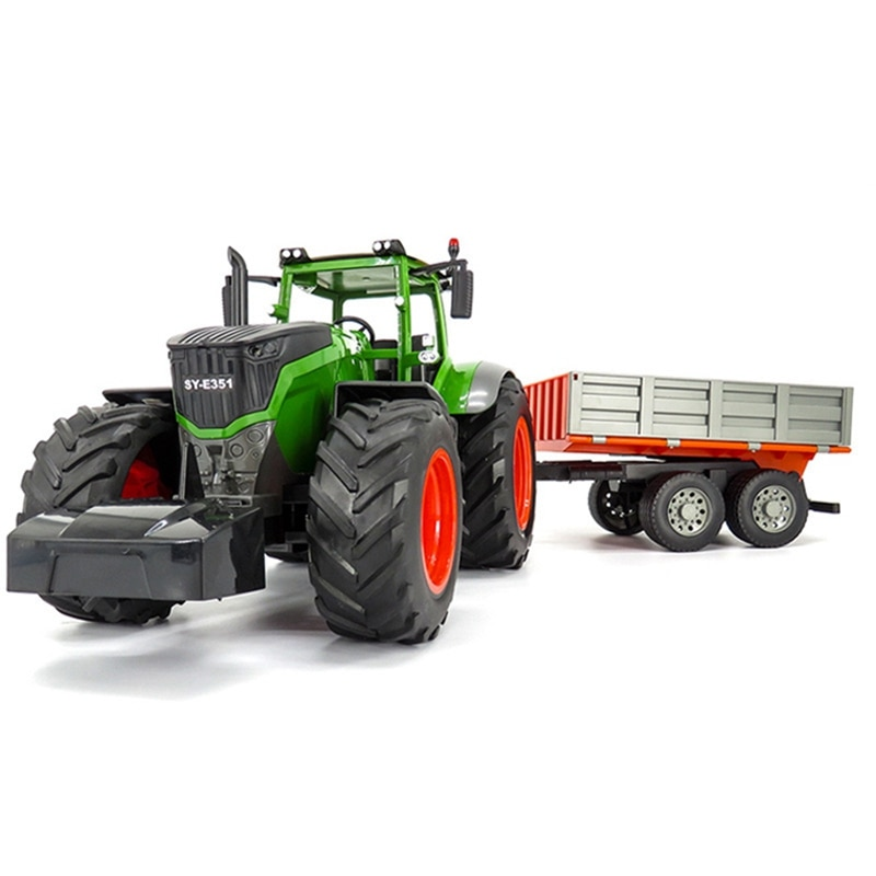 RC Truck Farm Tractor 2.4G Remote Control Water Truck/Rake 1:16 High Simulation Large Construction Vehicle Children Toys Hobby enlarge