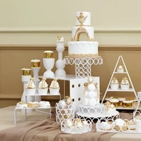 sweetgo14 pieces cake stands set circles shape wedding table supply party cupcake holders home decoration dessert trays