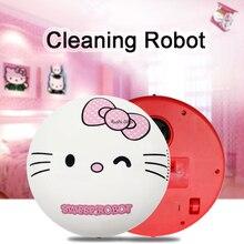 Mini aspirateur électrique   Aspirateur robot Helloo Kitty, nettoyeur de poussière à domicile, dessin animé Doraemon, aspirateur Portable