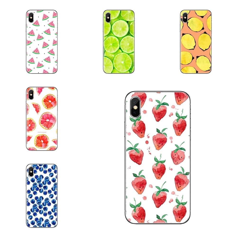 Para xiao mi 6 mi 6 a1 max mi x 2 5x 6x vermelho mi nota 5 5a 4x 4a a4 4 3 plus pro silicone telefone habitação frutas cereja kiwi melancia