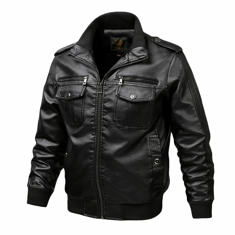 Thoshine ماركة الربيع الخريف الشتاء الرجال سترات من الجلد للدراجات النارية و السائق الذكور موضة بولي Leather الجلود البضائع معاطف جيوب حجم كبير