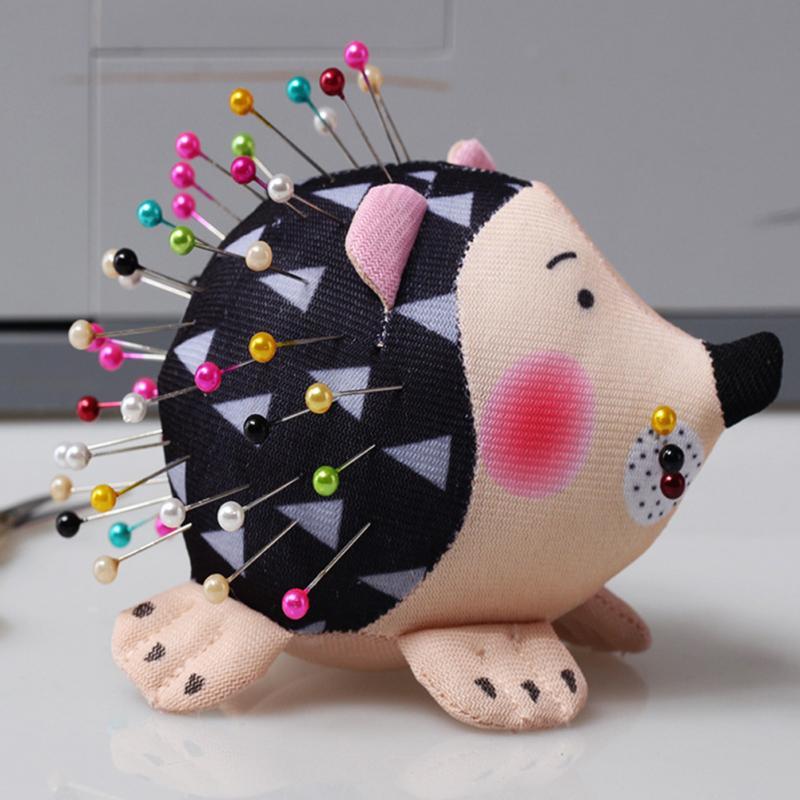 1pc Needlecraft Portable Cartoon Hedgehog Anti Falling Sewing Pin Cushion Practical DIY Lightweight Soft Cute Holder Patchwork