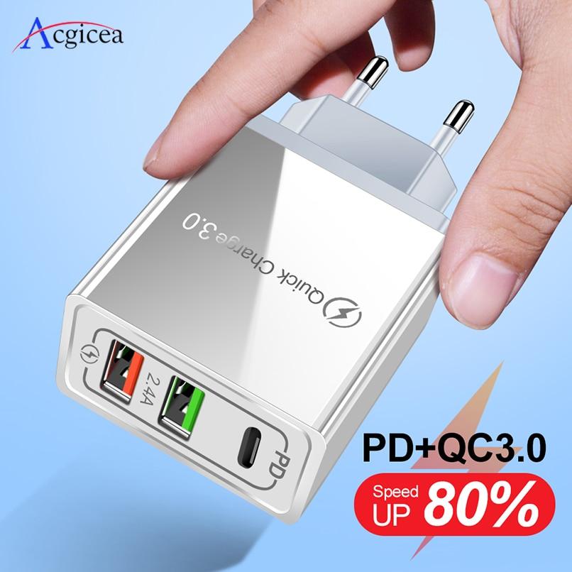 USB зарядное устройство для huawei mate 30 Pro PD type C Quick Charge 4,0 3,0 QC быстрое мини зарядное устройство для мобильного телефона s для iPhone XR 11 Pro