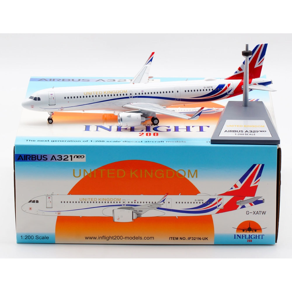 1:200 Alloy Collectible Plane Gift INFLIGHT IF321N-UK Royal Air Force Airbus A321NEO Diecast Aircraft JET Model G-XATW