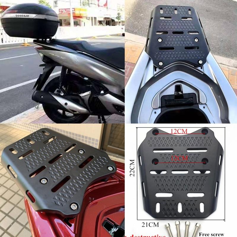 Modificado de alumínio da motocicleta pcx suporte traseiro pcx 125 150 traseiro rack caixa superior suporte do portador para honda pcx 125 150 2014-2019