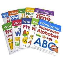 10 pièces livre de traçage anglais essuyer classeur pour enfants âgés de 3-6 classeur à plusieurs reprises essuyer le livre Miaohong avec stylo Dopshipping