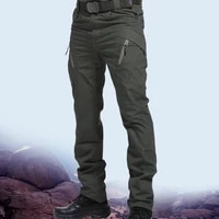 mens tactical pants multi pocket elastic waist military trousers male casual cargo pants men clothing slim fit 5xl sweatpants
