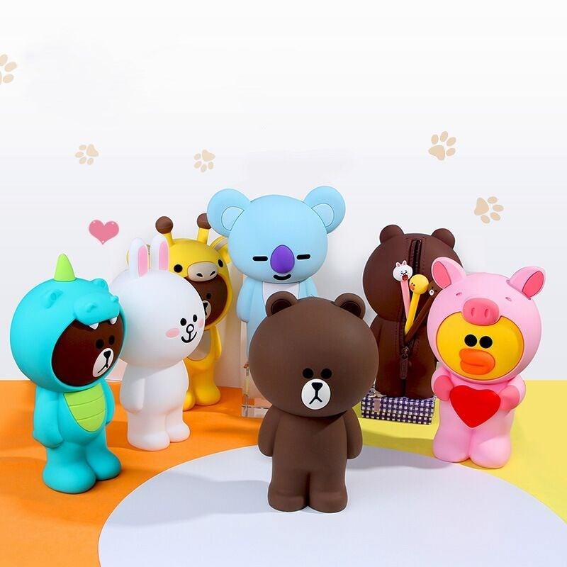 silicone bear pencil case animal Cute pen case School Pencil cases gifts for girl student big Storage box Cosmetic bag ornaments portable fruit silicone stationery box cute pencil case kawaii school pencil cases gifts for girls student pen case storage bag