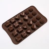 food grade silicone rose love gift box chocolate mold silicone jelly fruit candy mold baking accessories silicone mold cake