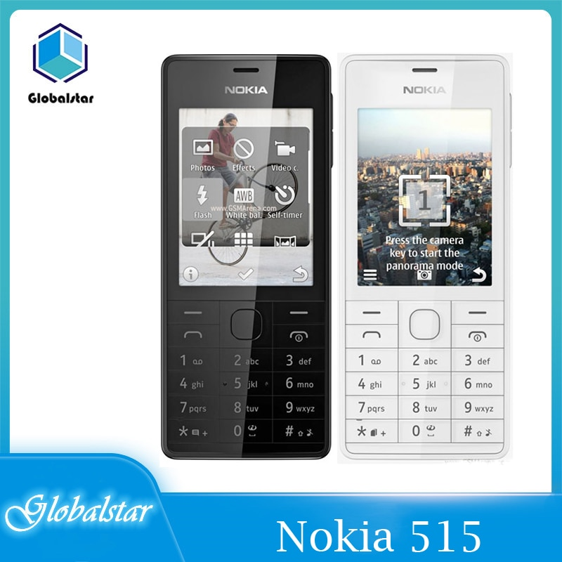 Перейти на Алиэкспресс и купить Восстановленные оригинальные разблокированные мобильные телефоны Nokia 515, одна/две Sim-карты, экран 2,4 дюйма, камера 5 Мп, 1200 мАч, одноъядерный п...