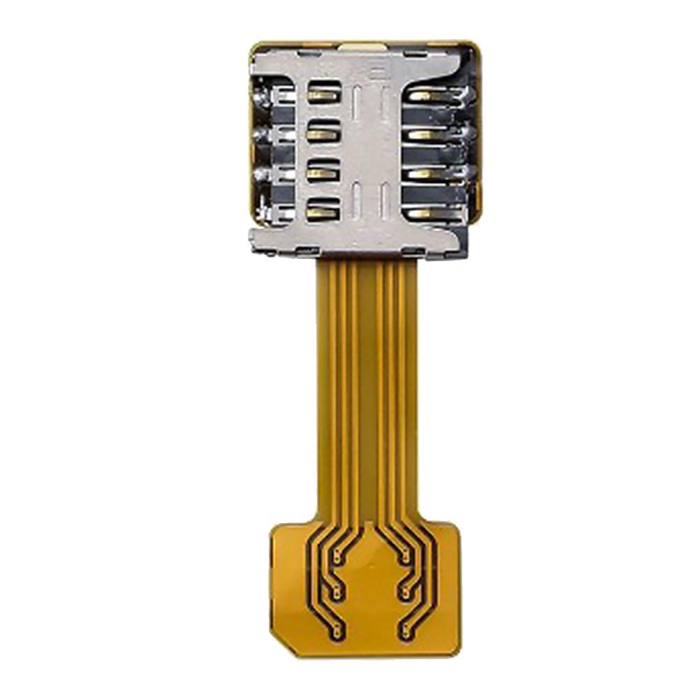DIY teléfono portátil ranura extensor Universal Mini dispositivo herramienta híbrido doble tableta tarjeta SIM Dual adaptador para Android